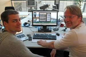 Kollege Frank Rugullis, eine schicke Website und ich