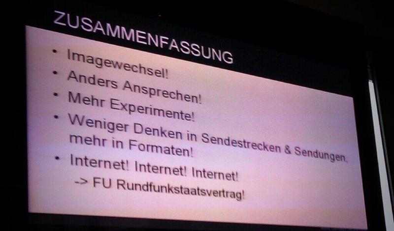 Folie aus der Präsentation von Daniel Bröckerhoff